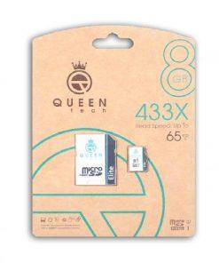 کارت حافظه کوئین تک مدل Micro SDHC U1 Elite 433X ظرفیت ۸ گیگابایتQueen Tech Memory Card Micro SDHC U1 Elite 433x 8GB